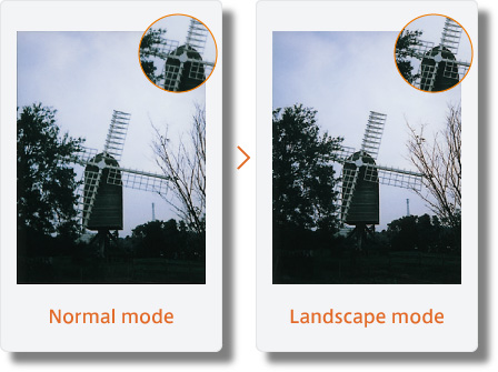 Instax mini 90 Landscape Mode