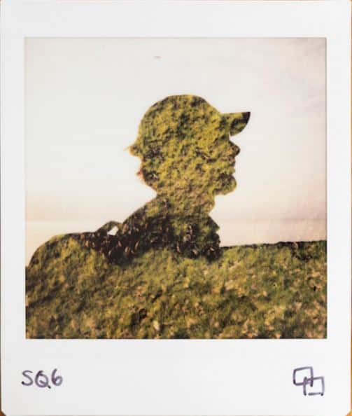 Double exposure silhouette Instax Sq6