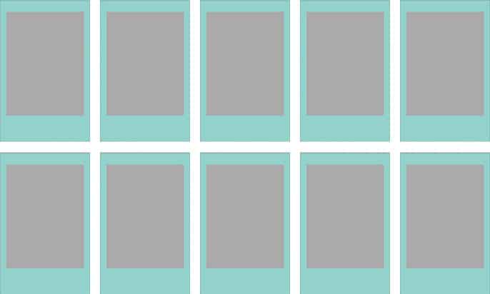 Instax mini film sky blue frame