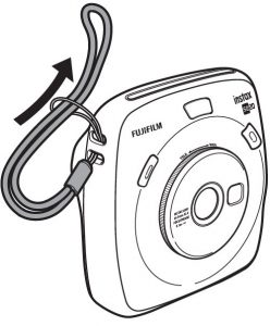 attaching the Hand strap on instax sq20