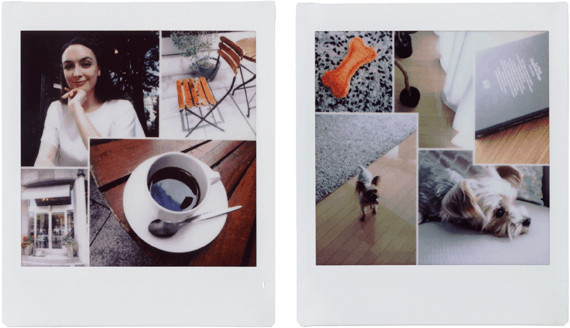 Collage mode Instax Sq20
