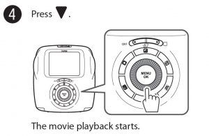 playing back movies on Instax sq20