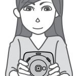 taking picture with instax sq20