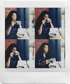 Time shift collage feature Instax sq20