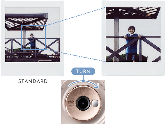 zooming in on image instax sq20